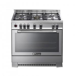 Tecnogas 90 X 60 Cm 5 Burners Gas Cooker, Steel – N1X96G5VC