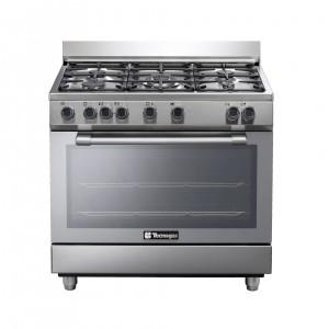 Tecnogas 90 X 60 Cm 5 Burners Gas Cooker, Steel - N3X96G5VC