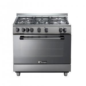 Tecnogas 90 X 60 Cm 5 Burners Gas Cooker, Steel – P3X96G5VC