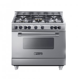 Tecnogas 90 X 60 Cm 5 Burners Gas Cooker, Steel – PP3X96G5VC