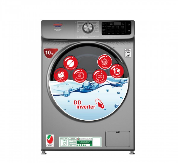 Washing Machine, Model No.GWF-10R14 (Front Load , Automatic, 10KG Capacity)