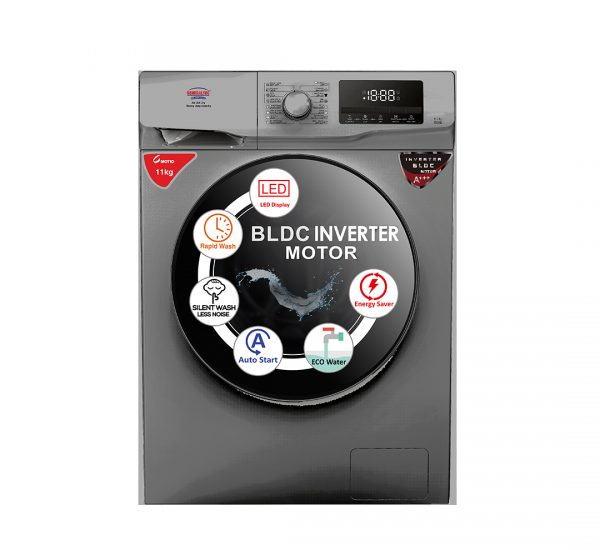 Generaltec Washing Machine, Model No.GWF11T14K (Front Load , Automatic, 11KG Capacity)
